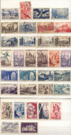 Francia Año 1934-1954 Yvert Varios  Lote De  33 Sellos Matasellos  Y Sobrecargas  Varios - Used Stamps