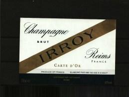 Etiquette Champagne -   Lot De 3  - DE ROSIER - IRROY  -  CHARLES VINCENT - Champagne
