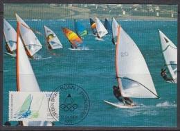 Germany 1984 Olympic Games / Segelsurfen 1v Maxicard  (21496) - Zomer 1984: Los Angeles