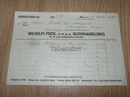 Wilhwlm Frick G.M.B.H. Buchhandlung Wien Austria Österreich 1918 - Austria