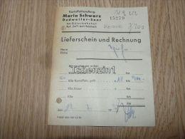 Kartoffelhandlung Maria Schwarz Dudweiler-Saar Am Güterbahnhof Amt Sulzbach Rechnung 1952 - Germany