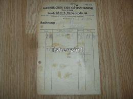 Saarbrücker Eier Grosshandel Hahn & Walch Saarbrücken Ottweiler Rechnung 1941 Deutschland - 1900 – 1949
