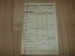 Jakob Strauss Friedrichsthal Limonadenfabrik Bierverlag Mineralwassergrosshandlung Rechnung 1953 Deutschland - Germany