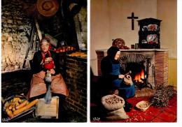2 CP Folklore En Périgord - La Casseuse De Noix & La Gaveuse D'oie - Unclassified