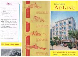 C1965, Dépliant Touristique, Pensione ARLINO, Via Biella, 11, Rivazzurra Di Miramare, Dir. Armando E Lino Fabbri - Dépliants Touristiques