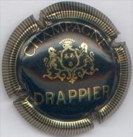 CAPSULE-CHAMPAGNE DRAPPIER Noir Gd écusson - Champagnerdeckel