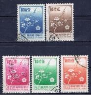 ROC+ China Taiwan 1979 1985 Mi 12912-94 1613 Pflaumenblüte - 1945-... República De China