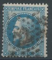 Lot N°28613  N°29,  Oblit étoile Chiffrée 22 De PARIS ( R. Taitbout ) - 1863-1870 Napoleon III With Laurels