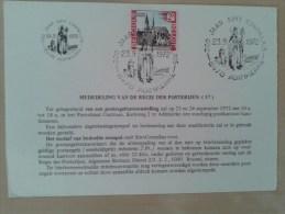 Adinkerke 300 Jaar Sint Cornelius Postzegel 23/09/1972 - Belgique
