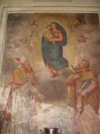 S.SAVINO Vescovo e BARTOLOMEO Apostolo - affresco  Chiesa PIACENZA ora Rito Ortodosso - fotografia