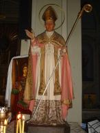 S.ANTONIO MARIA GIANELLI Vescovo Bobbio - statua Chiesa PIACENZA ora Rito Ortodosso - fotografia