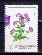 ROC+ China Taiwan 1984 Mi 1584 Aconitum Fukutomei - Used Stamps