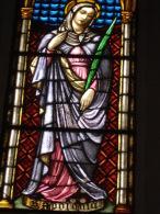 S.APOLLONIA Vergine Martire  - vetrata Chiesa S.Francesco PIACENZA - fotografia