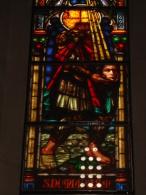 S.DONNINO Martire, Fidenza  - vetrata Chiesa S.Francesco PIACENZA - fotografia