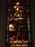S.ILARIO Vescovo - vetrata Chiesa S.Francesco PIACENZA - fotografia