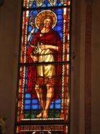 S.GIOVANNI BATTISTA - vetrata Chiesa S.Francesco PIACENZA - fotografia