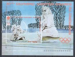 Yemen (YAR) 1971 Mi Block 161 MNH OLYMPICS - Winter 1972: Sapporo