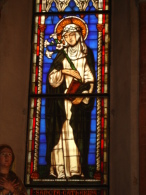 Santa CATERINA da Siena - vetrata Chiesa S.Francesco PIACENZA - fotografia