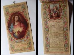 Calendario 1937 Della Scuola Apostolica Del S. Cuore Albino Bergamo. - Calendari