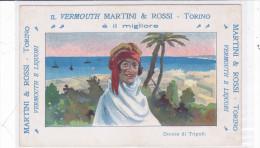 """CARD PUBBLICITARIA VERMOUTH """"MARTINI E ROSSI"""" BEDUINA GUERRA ITALO-TURCA 1911 2 SCANNER -FP-VDB-2-    0882--23677-678 - Pubblicitari"""