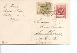 Pologne ( Carte Postale De 1925 De Poznan Vers La Belgique à Voir) - 1919-1939 Republic