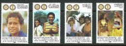 TONGA MICHEL 1148-1151 MNH** ROTARY INTERNATIONAL - Rotary, Lions Club