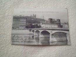 Lyon : Le Pont Tilsitt - Abside De St Jean Et Coleau De Fourvières - Lyon