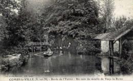 77 COMBS LA VILLE Bords De L´Yerres Un Coin Du Moulin De Vaux La Reine Animée - Combs La Ville