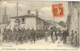 17 - MARENNES - Arrivée à Marennes Du 1er Bataillon Du 7è D'Infanterie Coloniale E 1er Juillet 1906 - Marennes