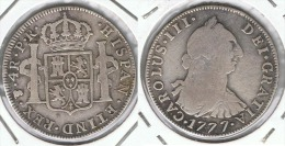 BOLIVIA CARLOS III 4 REALES POTOSI 1777 PLATA SILVER - Bolivia