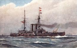 Artist Drawn Ships Of  WW1 Era  - Armoured Battleship : HMS Duncan   -   9183 - Guerra
