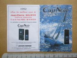 Calendrier 1992 Parfumé Cap Noir Coiffeur Selieye Rodez Aveyron 12 - Formato Piccolo : 1991-00
