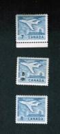 CANADA. 1964, # 414-430-436, Definitives Jet Plane & Surchage Mnh - 1952-.... Règne D'Elizabeth II