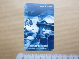 Calendrier Format Carte De Crédit 1994 Armée De Terre Recrutement Clermont Ferrand Puy De Dôme 63 - Calendarios