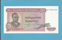 ZAIRE - 50 MAKUTA - 24/11/1979 - Pick 17.a - UNC. - Sign. 5 - Mobutu - 2 Scans - Zaïre