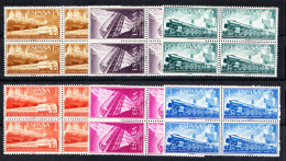 ESPAÑA1958.CONGRESO FERROCARRILES EDIFIL Nº 1232/1237. BLOQUE DE 4  NUEVO SIN   CHARNELA  SES163GRANDE - 1951-60 Nuevos & Fijasellos