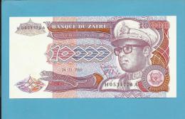 ZAIRE - 10.000 ZAIRES - 24/11/1989 - Pick 38 - UNC. - Sign. 7 - Mobutu - 2 Scans - Zaire