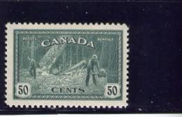 CANADA, 1946,  # 272, K G V1 PEACE ISSUE:LOGGING    M NH - 1937-1952 Règne De George VI
