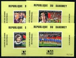 Football WC 1974 Dahomey  Set Of 4Lux SS Soccer MNH**VF - Coppa Del Mondo