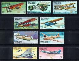 1968  Histoire De L´aviation Surchargés «Vol Lunaire Noël 1968»  MiNr A305A-A313A  **  MNH  Avions Espace - P - Umm Al-Qaiwain