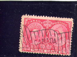 CANADA 1897, USED # 53, DIAMOND JUBELEE,  3 CENTS  USED   WYSIWYG - 1851-1902 Règne De Victoria