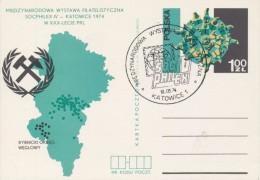 J0638 - Poland (1974) Postal stationery; theme: Coal mining; postmark: Katowice 1: Stamp exhibition SOCFILEX