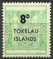Tokelau - 1966 New Zealand Fiscal Type Surcharged 8d MNH **  SG 7  Sc 7 - Tokelau