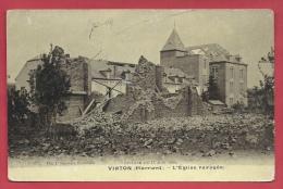 Virton ( Pierrard ) - Cyclone Du 17 Juin 1904 -L'Eglise Ravagée - 1904  ( Voir Verso ) - Virton