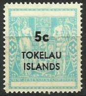 Tokelau - 1968 New Zealand Fiscal Surcharge 5c MNH **  SG 13  Sc 13 - Tokelau