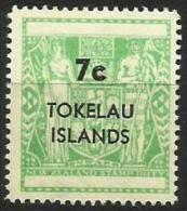 Tokelau - 1968 New Zealand Fiscal Surcharge 7c MNH **  SG 14  Sc 14 - Tokelau