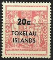 Tokelau - 1968 New Zealand Fiscal Surcharge 20c MNH **  SG 15  Sc 15 - Tokelau