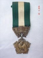 Médaille République Française. Liberté Egalité Fraternité - Collectivités Locales. Largeur 3,2 Cm.  Bon état. - Militares
