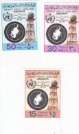 Libya 1979, World Meteo Day Complete Sset 2 Stamps Marginal IMPERFORATED MNH,limited Issue- Scarce - Libya