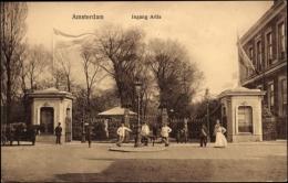 Cp Amsterdam Nordholland, Ingang Artis, Passanten - Pays-Bas